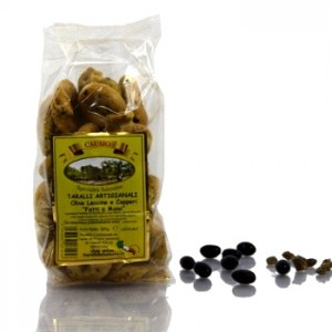 Artisanal Tarallos with Leccine Olives and Capers