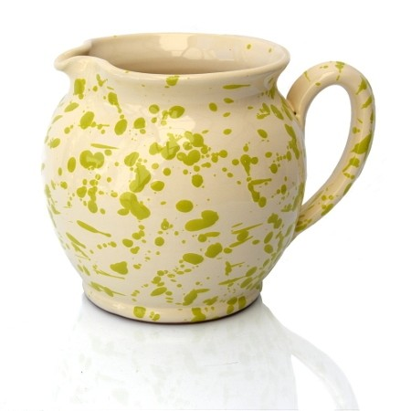 Brocca Bombata Screziata Verde 15 cm