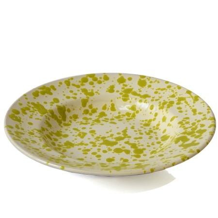 Piatto Fondo Screziato Verde 23 cm