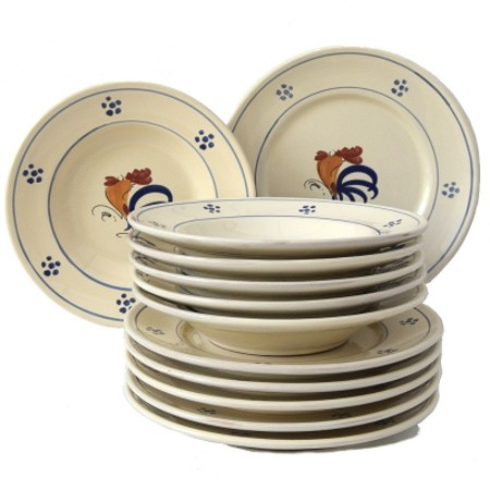 Set da Tavola in Terracotta Gallo 12 pz