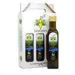 Confezione Olio Evo Delicato Leucades 3 bottiglie 250ml