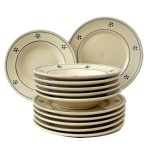 Set da Tavola in Terracotta Stelle 12 pz